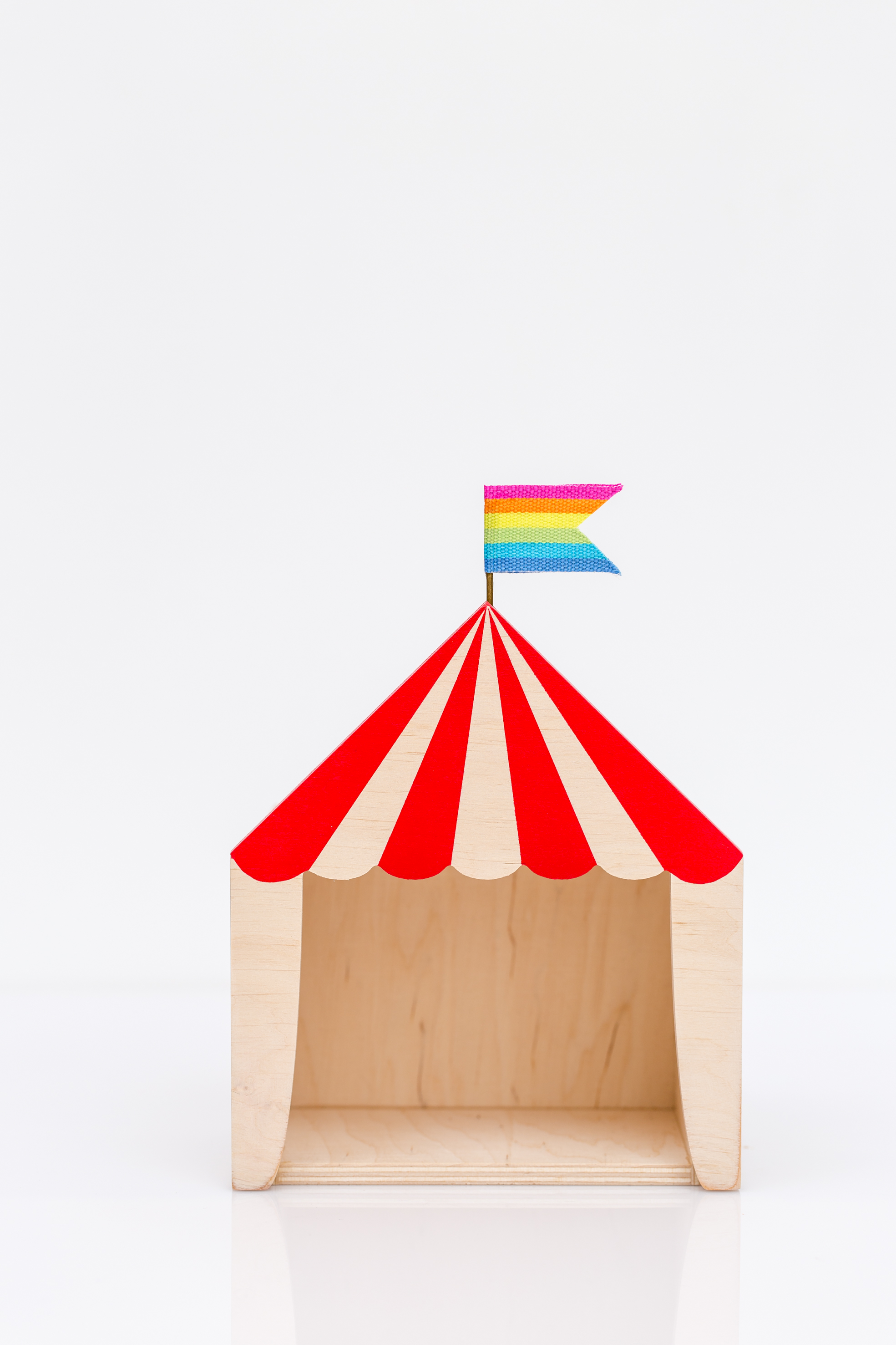 red mini circus box