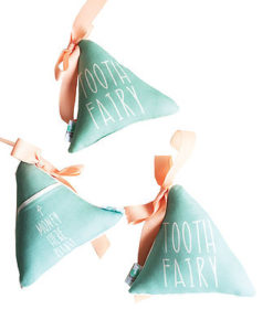 mint tooth fairy pillow