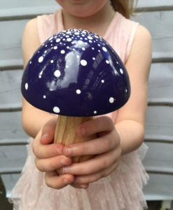 fairy toadstool purple
