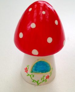 teeny tiny fairy house red
