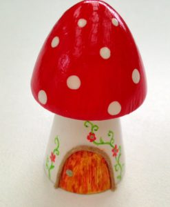 teeny tiny red fairy house