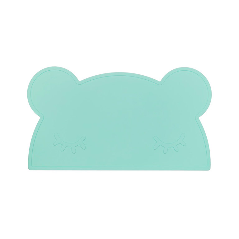 kids placemat minty green bear
