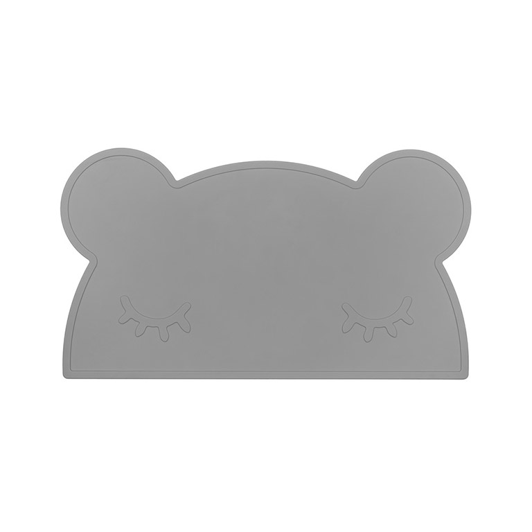 bear placemat grey