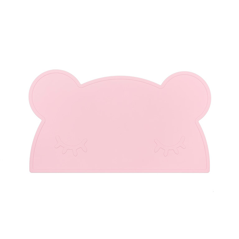 bear placemat powder pink we might be tiny
