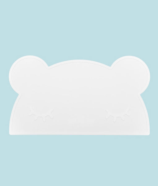 bear placemat white