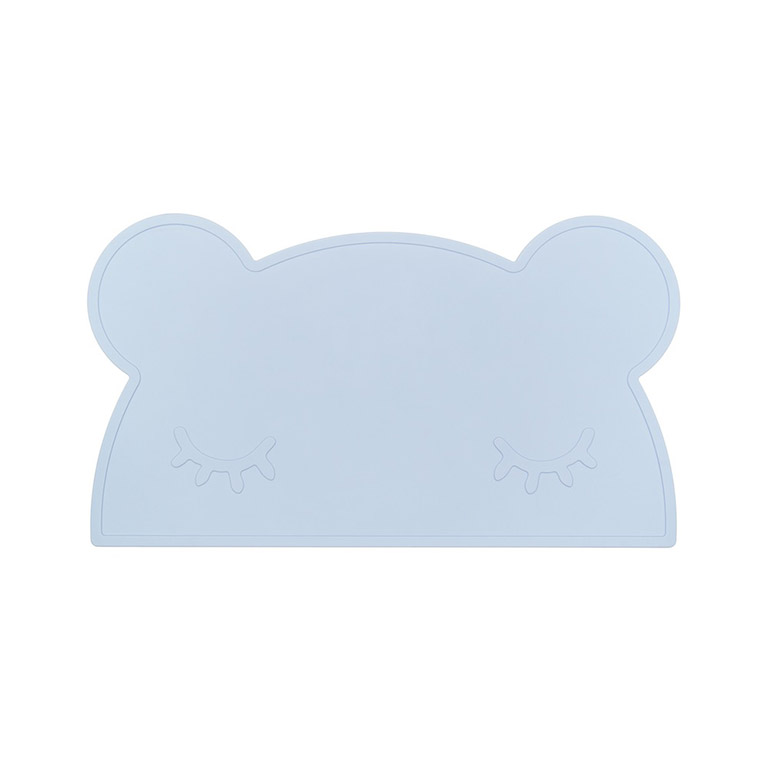 bear powder blue placemat