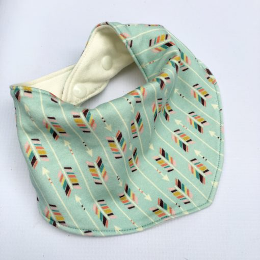 boho arrow bandana bib