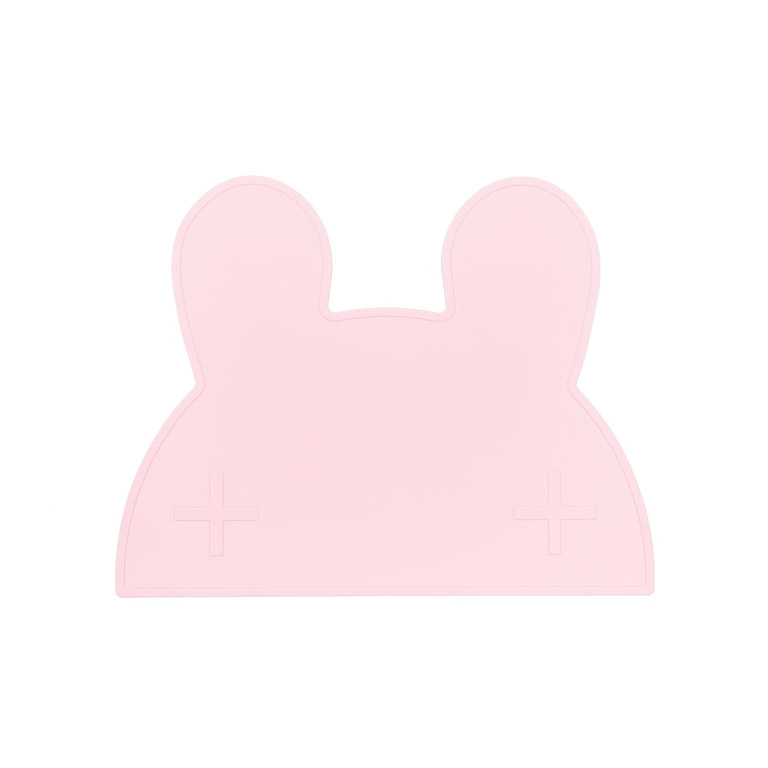 bunny placemat powder pink