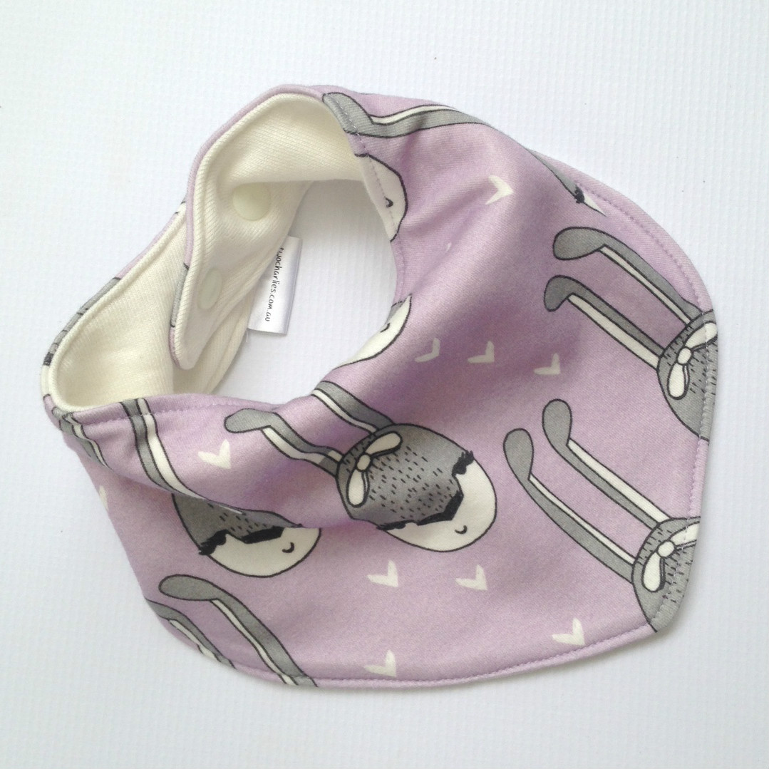 bunny bandana bib two charlies