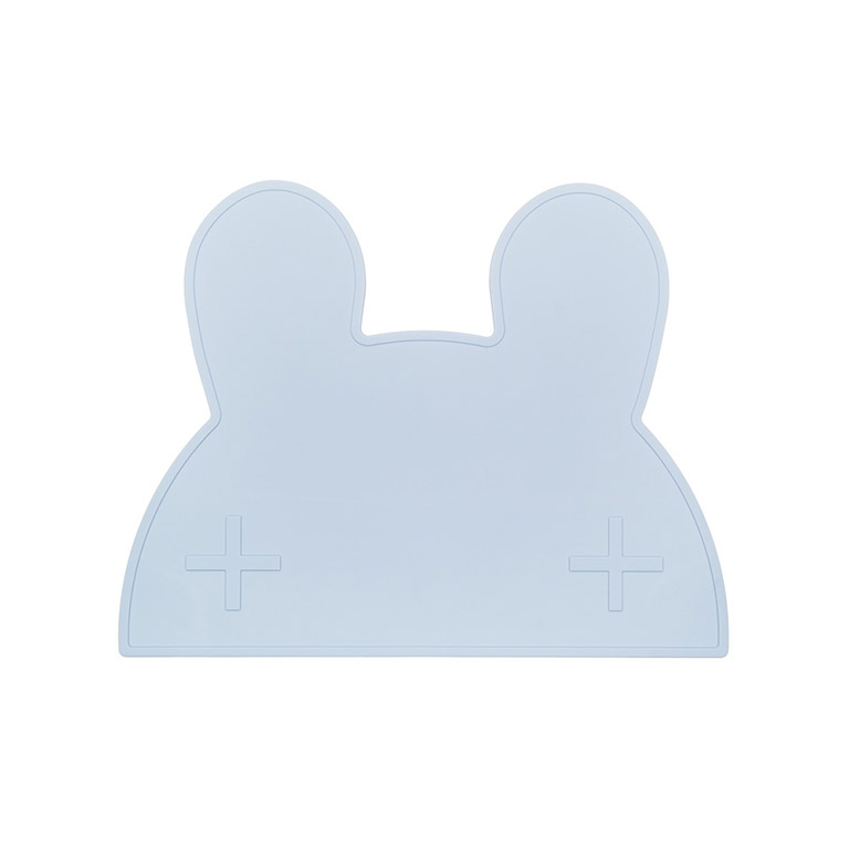 bunny placemat powder blue