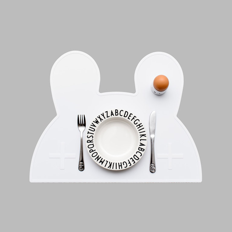 bunny placemat white