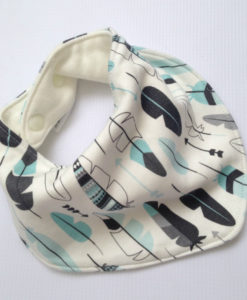 feather bandana bib