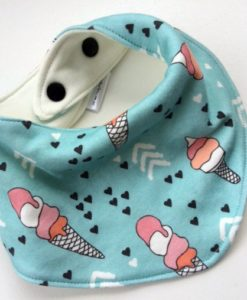 ice cream bandana bib