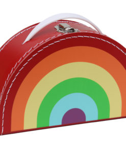 bright rainbow suitcase