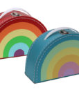kids rainbow suitcases