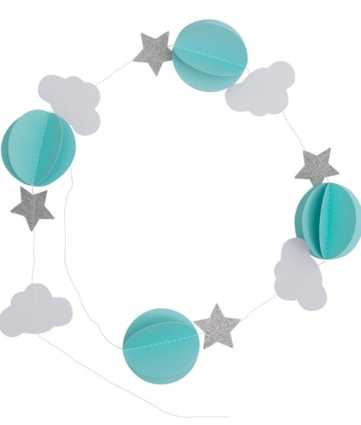 a little lovely company blue paper garland