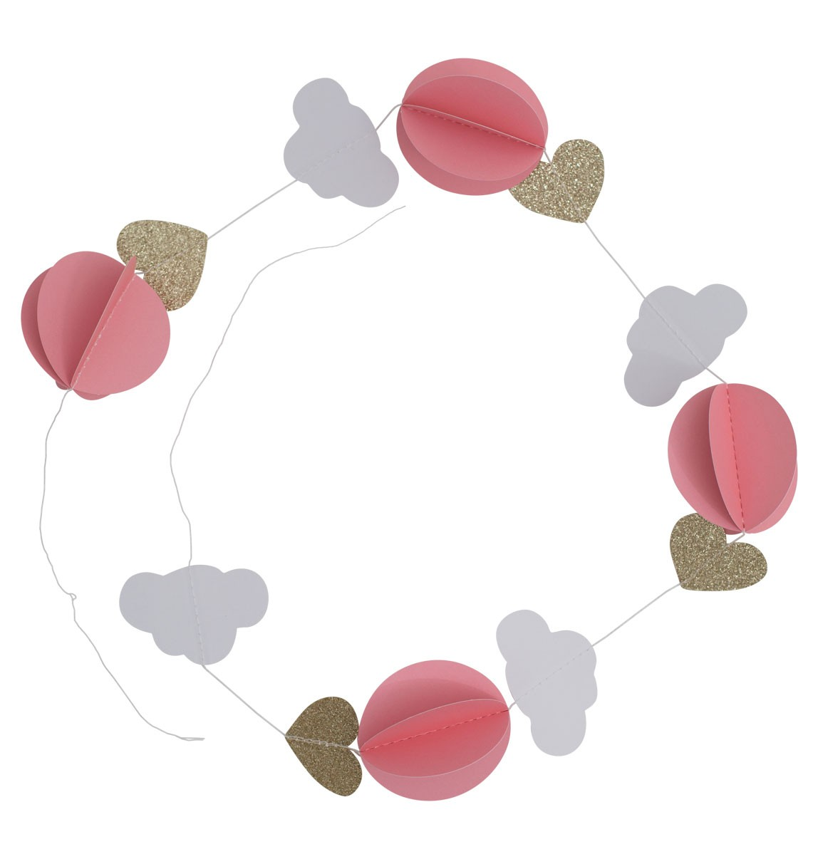 a little lovely company pink cloud garland